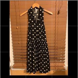 {Xhilaration} Black & White Polka Dot Dress Sz M
